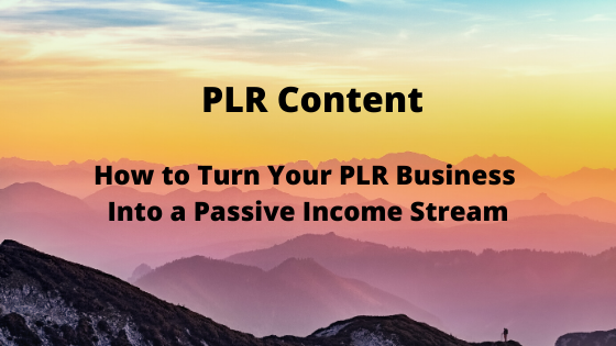 How to Turn Your PLR Business Into a Passive Income Stream