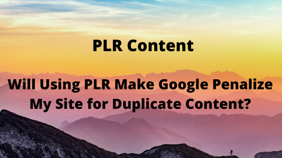 Will Using PLR Make Google Penalize My Site for Duplicate Content?